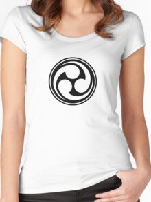 Mitsu Tomoe - Shinto Trinity - Japanese Symbol Women's Fitted Scoop T-Shirt