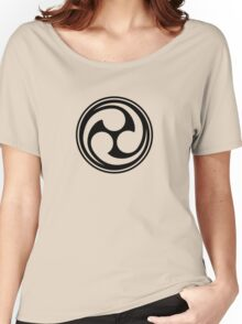 Mitsu Tomoe - Shinto Trinity - Japanese Symbol Women's Relaxed Fit T-Shirt
