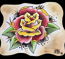 Large Rose Tattoo Design by stacey13