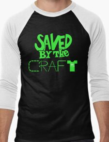 Saved by the Craft - Green Writing Men's Baseball ¾ T-Shirt