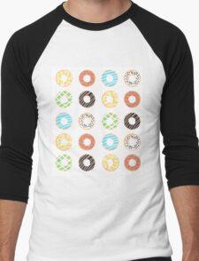 Donut Print Men's Baseball ¾ T-Shirt