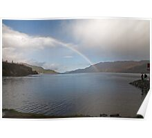 Rainbow over Loch Ness in Fort Augustus Scotland Poster
