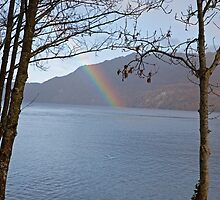 Rainbow in Fort Augustus Scotland by Keith Larby