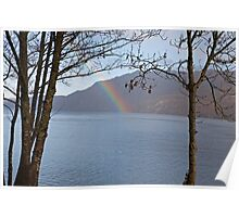 Rainbow in Fort Augustus Scotland Poster