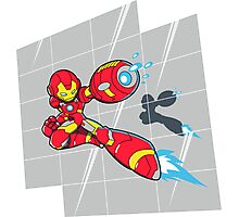 Iron Mega Man Photographic Print