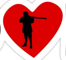 Hunting Heart Dad Sticker
