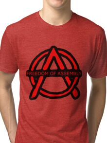 Freedom of Assembly Anarchy Tri-blend T-Shirt