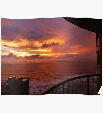 Sunrise at Surfers Paradise Poster