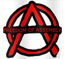 Freedom of Assembly Anarchy Poster