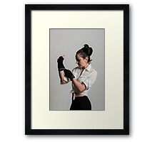 Cute female boxer Framed Print
