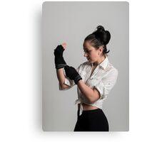 Cute female boxer Canvas Print