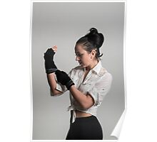 Cute female boxer Poster