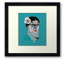 Frida Blue Framed Print