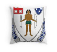 182nd Infantry Regiment - Avitos Juvamus Honores - We Uphold Our Ancient Honors Throw Pillow