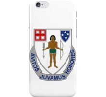 182nd Infantry Regiment - Avitos Juvamus Honores - We Uphold Our Ancient Honors iPhone Case/Skin