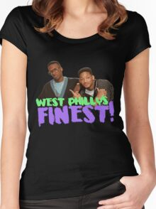 West Philly's Finest Women's Fitted Scoop T-Shirt