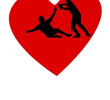 Baseball Double Play Heart by kwg2200