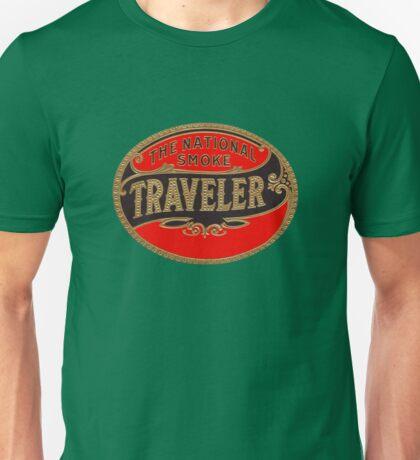 Vintage Cigar Traveler Decal Travel Smoke Unisex T-Shirt