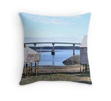 Livin' in Lubec Throw Pillow