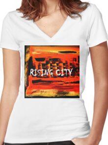 Rising City Women's Fitted V-Neck T-Shirt
