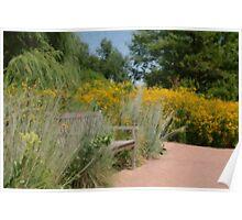 Botanical Gardens Seating area Poster