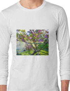 Pink blossoms at Ripponlea Long Sleeve T-Shirt
