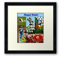 Happy Easter Collage  Framed Print