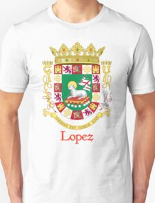 Lopez Shield of Puerto Rico T-Shirt
