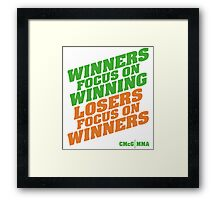 Conor McGregor - Quotes [Winners Tri] Framed Print