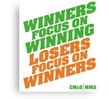 Conor McGregor - Quotes [Winners Tri] Canvas Print
