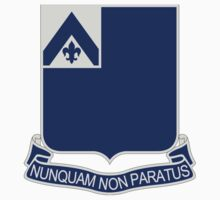 185th Infantry Regiment - Nunquam Non Paratus - Never Unprepared by VeteranGraphics