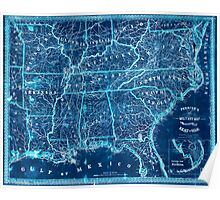 Civil War Maps 1271 Perrine's New military map illustrating the seat of war southern US Inverted Poster