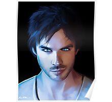 Damon Salvatore Vampire Diaries Fan Art Print Poster