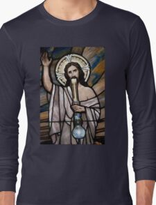 Jesus Hittin a Bong Long Sleeve T-Shirt