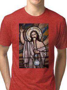 Jesus Hittin a Bong Tri-blend T-Shirt