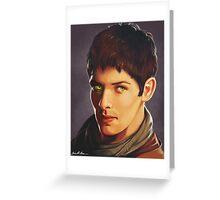 Merlin Colin Morgan Fan Art Print Greeting Card