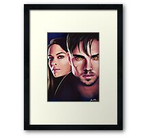 Beauty and the Beast Cat and Vince Fan Art Print Framed Print