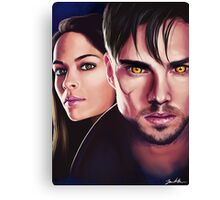 Beauty and the Beast Cat and Vince Fan Art Print Canvas Print