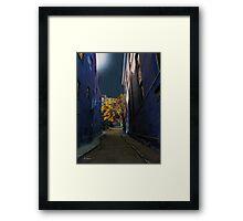 One Way Street Framed Print