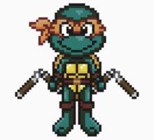 TMNT Michelangelo Pixel by geekmythology