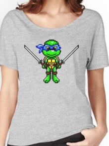 TMNT Leonardo Pixel Women's Relaxed Fit T-Shirt