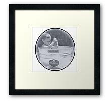 Bath tub round Framed Print