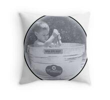 Bath tub round Throw Pillow