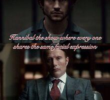 Hannibal Same Facial expressions by sam2277