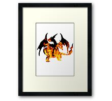 Mega Charizard Y used Blast Burn Framed Print