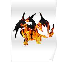 Mega Charizard Y used Blast Burn Poster