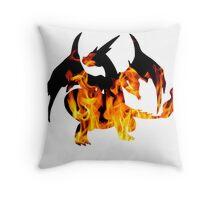 Mega Charizard Y used Blast Burn Throw Pillow