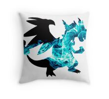Mega Charizard X used Blast Burn Throw Pillow