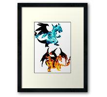 Mega Charizard X and Y used Blast Burn Framed Print