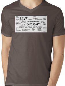 Heart Board Mens V-Neck T-Shirt